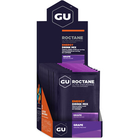 GU Energy Roctane Ultra Endurance Energy Drink Mix Box 10x65g, Grape